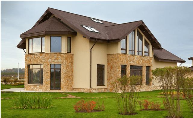 Фасадная штукатурка короед: фото фасадов частных домов и технология нанесения декоративным составом своими руками