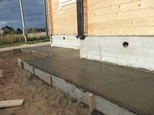 Отмостка вокруг дома: устройство из бетона и других материалов своими руками