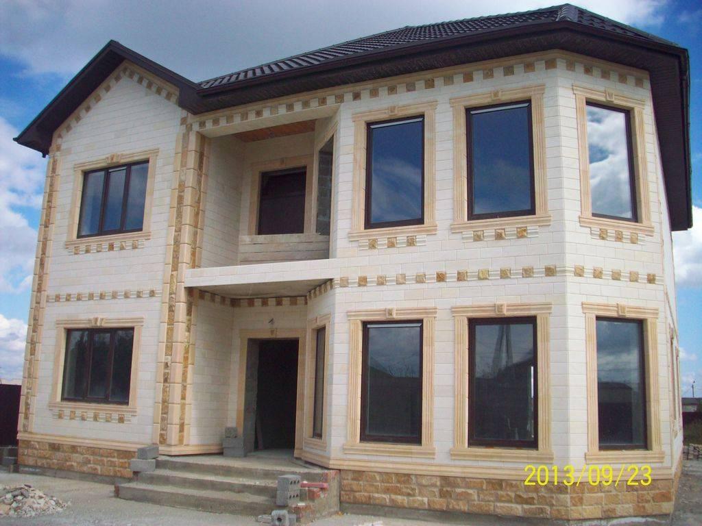 Дагестанский камень для фасада: технология отделки и облицовки + достоинства и недостатки и фото