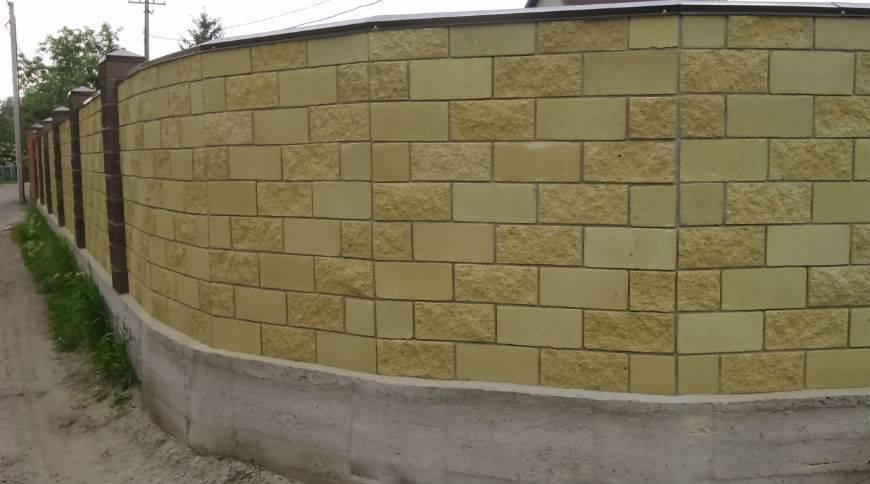 Забор из шлакоблоков: расчет количества блоков, закладка фундамента и кладка забора. варианты конструкции