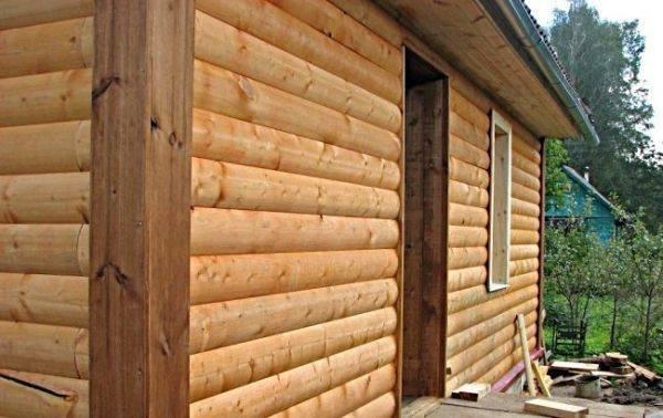 Достоинства и недостатки блок-хауса под брус и его отличия от стандартной формы