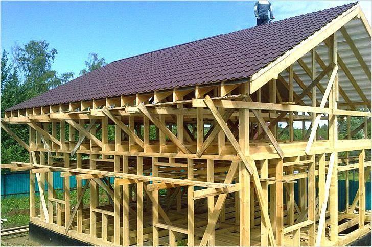 Стропильная система мансардной крыши: устройство, конструкции