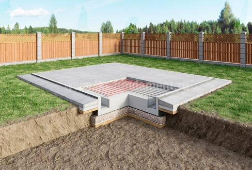 Монолитная фундаментная плита при строительстве дома - когда она нужна, плюсы и минусы