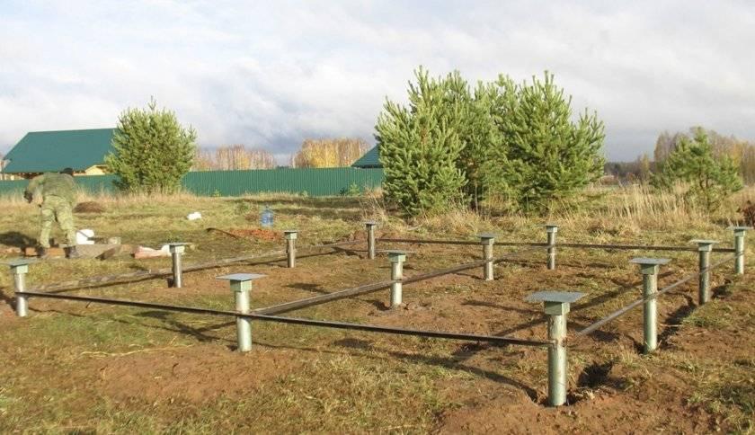 Установка свайно-винтового фундамента: варианты монтажа зимой и своими руками