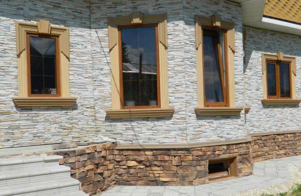 Фасадные панели под камень: отделка фасада стеновыми декоративными панелями и технология облицовки стены искусственным камнем + фото