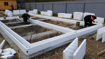Ленточно-свайный фундамент для дома из пеноблоков