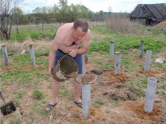 Столбчатый фундамент из асбестоцементных труб: преимущества и недостатки