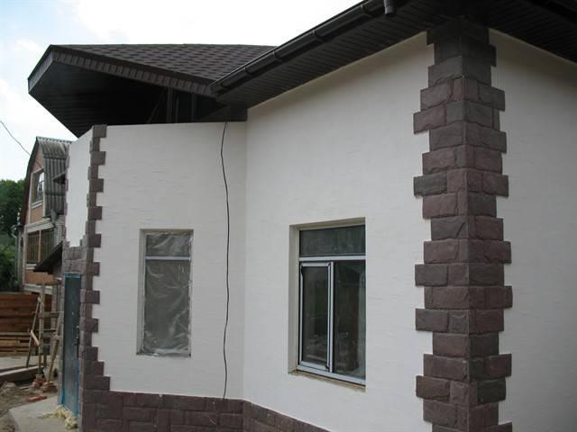 Использование декоративной штукатурки для наружной отделки фасадов