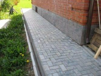 Технология укладки тротуарной плитки на бетон