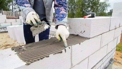 Кладка газобетона своими руками: технология процесса, создание основы, правильная укладка блоков