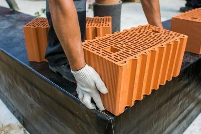 Керамические блоки: размеры, преимущества поризованных керамоблоков, плюсы и минусы, фото