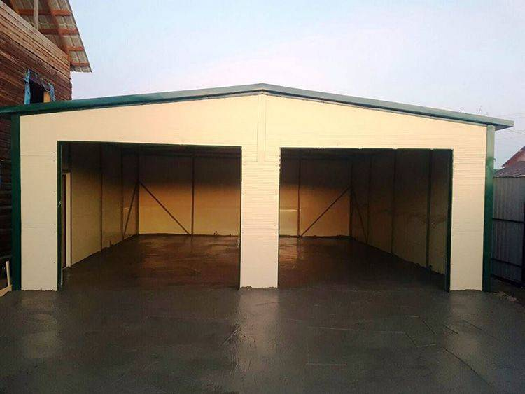Гараж из сип панелей: комплект для строительства, проект гаража с мансардой