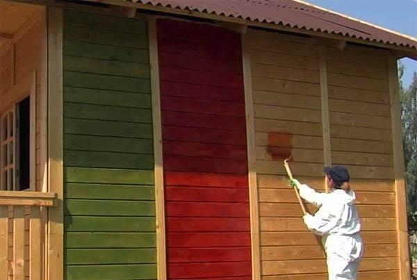 Покраска сруба после шлифовки — как правильно подобрать краску и антисептик для обработки