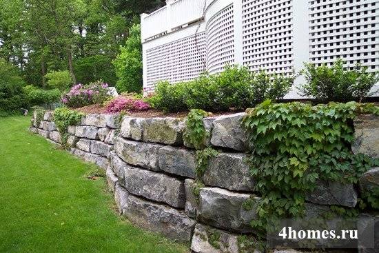 Подпорная стена из бетона - технология изготовления своими руками