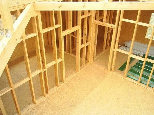Как установить каркасную перегородку в деревянном доме