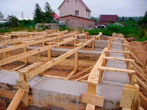 Как сделать ленточный или столбчатый фундамент под баню