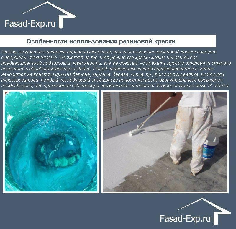 Технические характеристики акриловой фасадной краски для наружных  работ