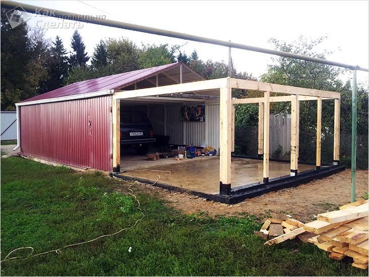 Основание гаража из бруса. гараж из бруса своими руками