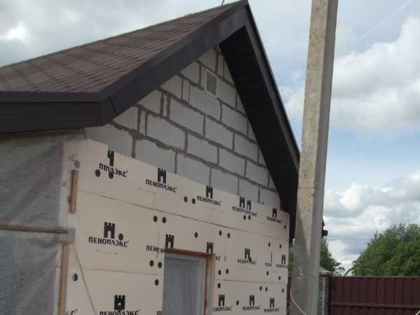 Утепление дома из пеноблоков снаружи и изнутри