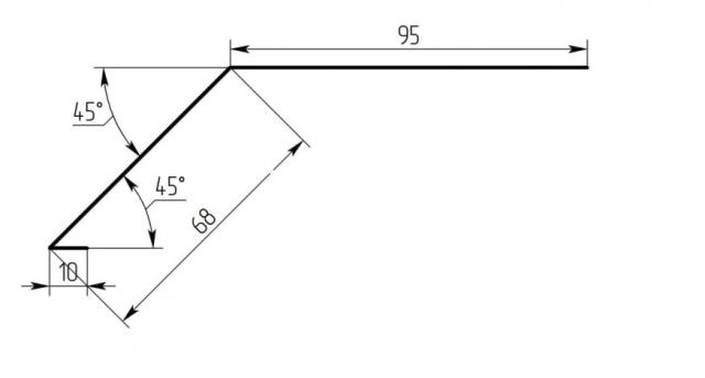 Карнизная планка для металлочерепицы: монтаж, размеры, фото