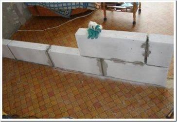 Перегородки из газобетонных блоков: преимущества, расчет, строительство