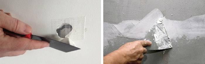 Как зацементировать дыру в стене - клуб мастеров