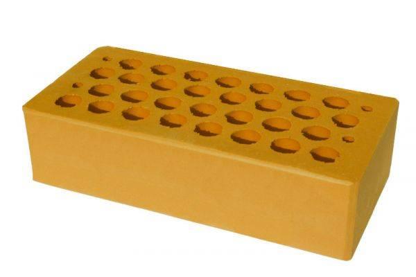 Жёлтый облицовочный кирпич: цена за штуку, размер, цвета