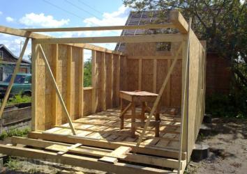 Как построить сарай из бруса?