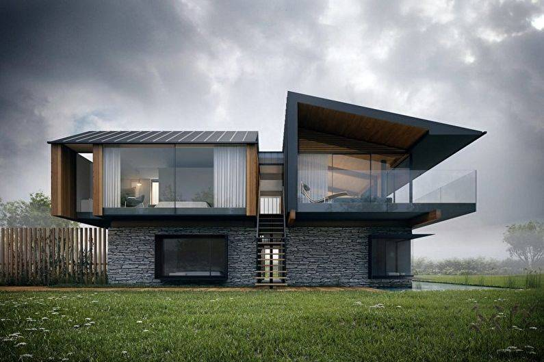 Дом с плоской крышей   красивые проекты [+105 фото]