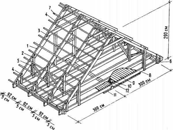 Устройство односкатной крыши — конструкция и чертежи (фото, видео)