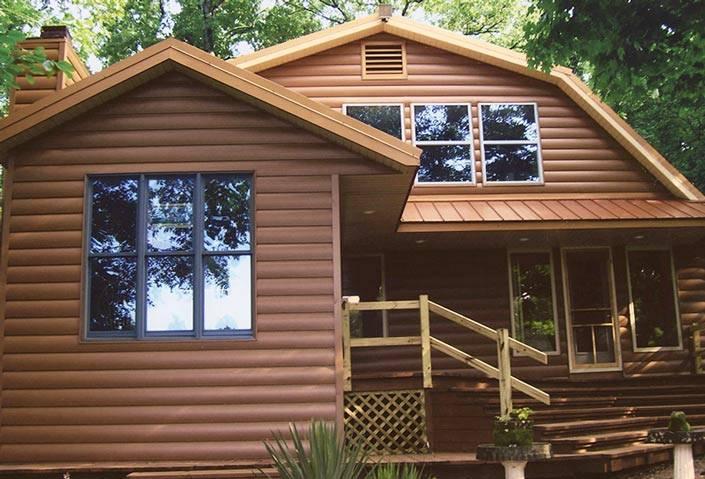 Пластиковая «древесина» — виниловый блок хаус под бревно