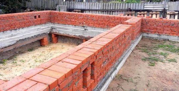 Кладка стен на фундамент: материалы и технология