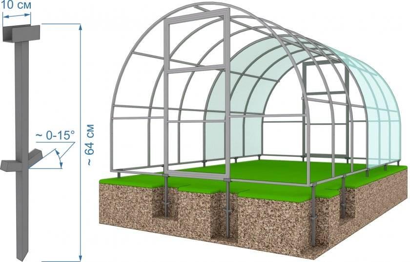 Как самостоятельно изготовить свайный фундамент для теплицы из поликарбоната?