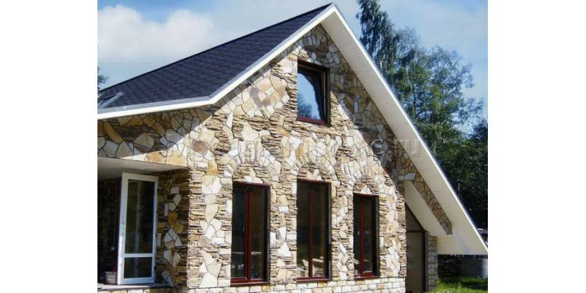 Сфера использования гибкого камня для отделки фасада дома и технология монтажа