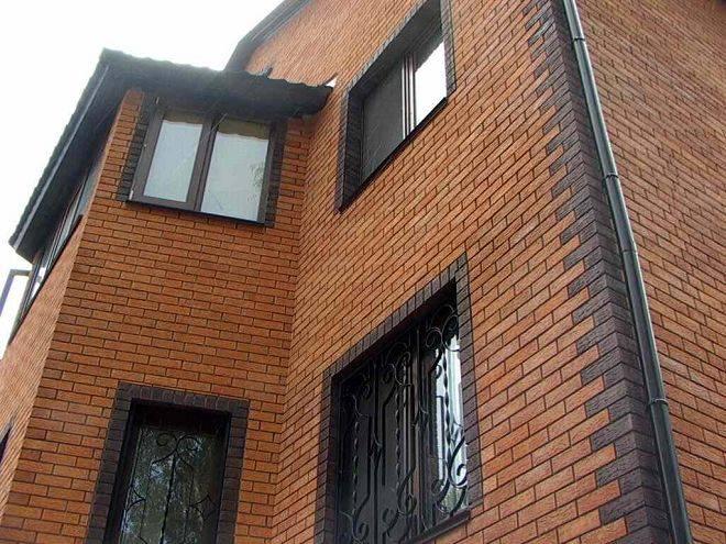 Фасад облицовочный кирпич, варианты оформления наружных стен зданий