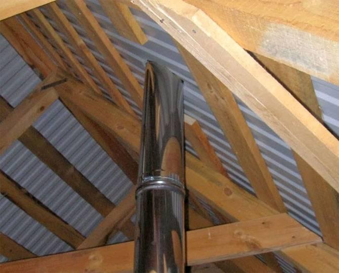 Герметизация трубы на крыше из профнастила: как заделать дымоход, заделка, отделка печной трубы, как уплотнить