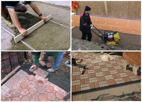 Инструкция по обустройству отмостки вокруг дома из тротуарной плитки своими руками