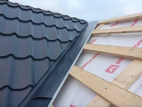 Ендова крыши: назначение, варианты использования, особенности монтажа