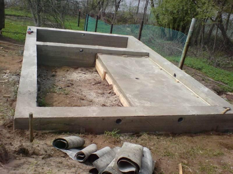 Пошаговая инструкция по изготовлению ленточного фундамента для бани своими руками
