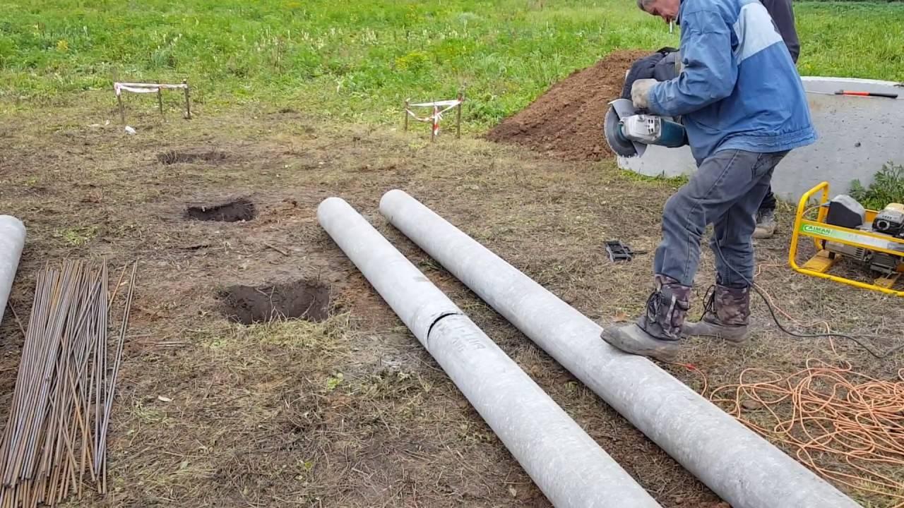 Фундамент из асбестоцементных труб: как сделать сваи из асбестовых труб своими руками