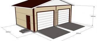 Сколько составляет цена на строительство гаража из сэндвич-панелей?