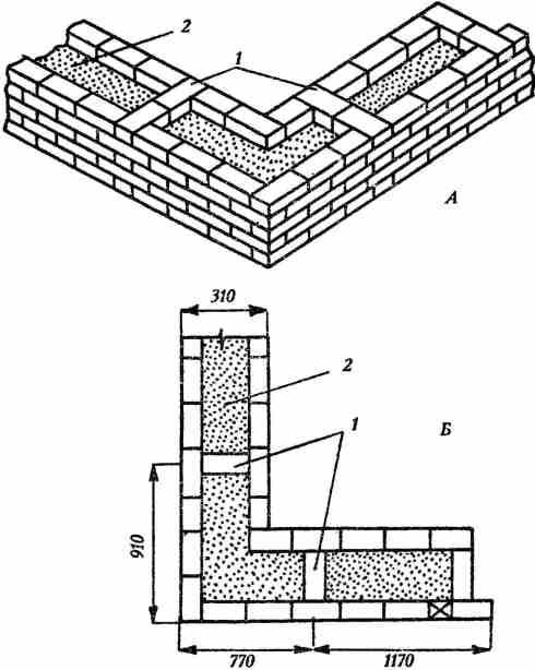 Кладка стен облегченных конструкций / каменные работы