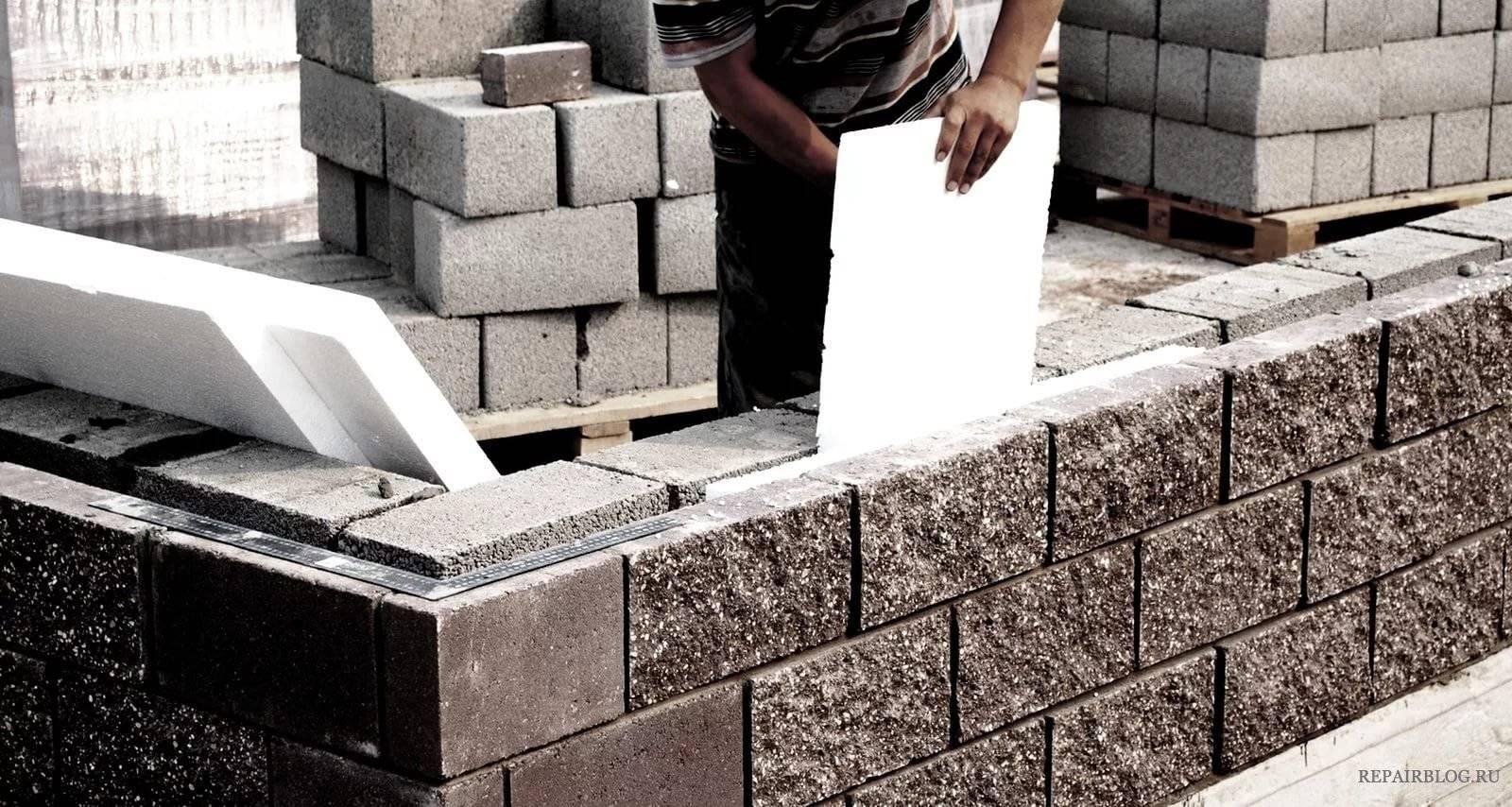 Как построить и утеплить дом из керамзитобетонных блоков