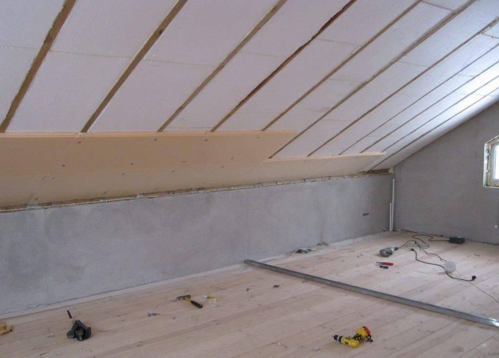 Утепление мансардной крыши, какой материал лучше использовать, а также особенности монтажа