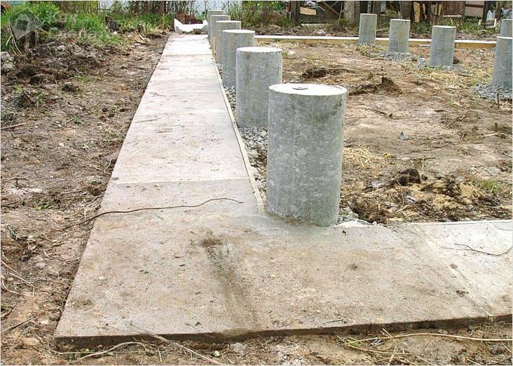 Фундамент из асбестоцементных труб для дачного дома