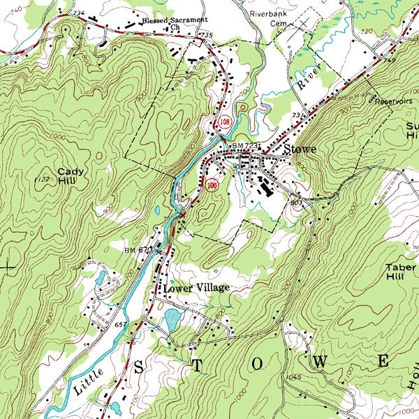 «изображение рельефа на топографических картах»
