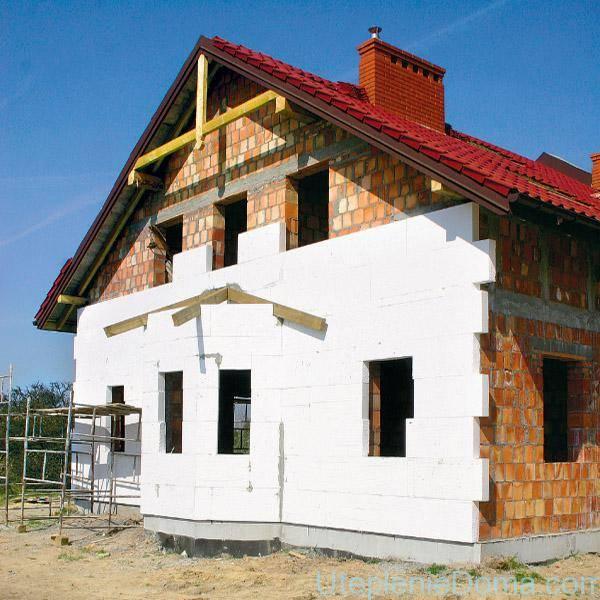 Утепление кирпичного дома снаружи — современные методы