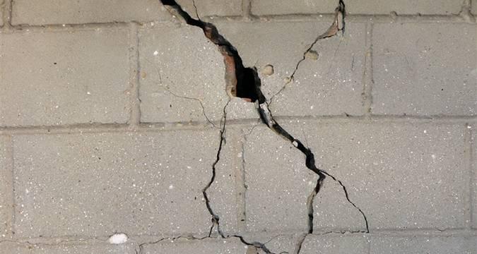 Виды трещин в бетоне и их заделка