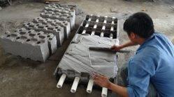 Станок для производства блоков своими руками: как сделать