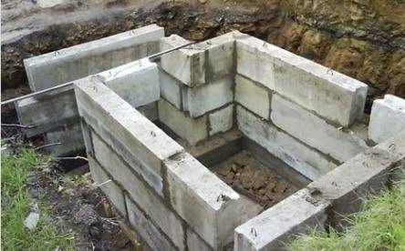 Строительство погреба и подвала из керамзитобетонных блоков
